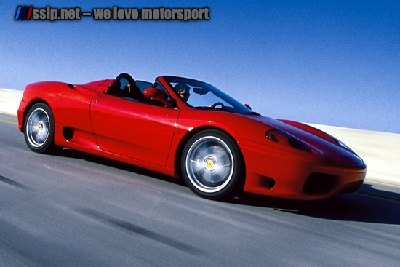 Ferrari 360 Spider Side