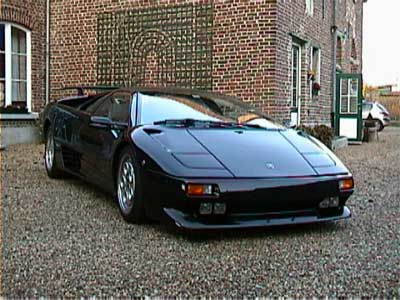 Superbe Black 1991 Lamborghini Diablo At The Grand Opening For Crystal Clean Auto