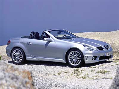 Mercedes Benz SLK 55 AMG Side